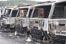 Zone industrielle de Limay : six camions incendiés