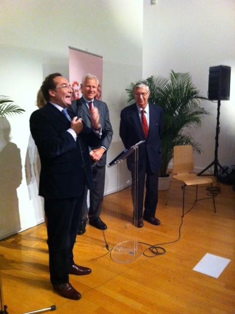 Mantes-la-Jolie, hier soir - Pierre Bedier lors de son discours sur l'événement Goûts d'Yvelines (MA/Ab. N)