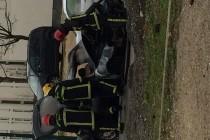 Mantes-la-Jolie : une voiture prend feu en pleine rue