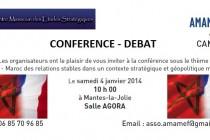 Le centre marocain des études stratégiques à Mantes-la-Jolie pour une conférence – débat
