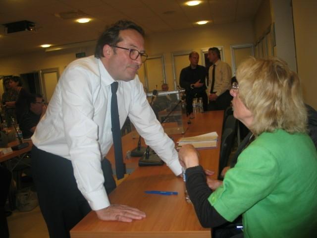 Magnanville, 14 avril 2014 - Pierre Bédier lors de l'élection du président de la CAMY (MA/Ab.N)