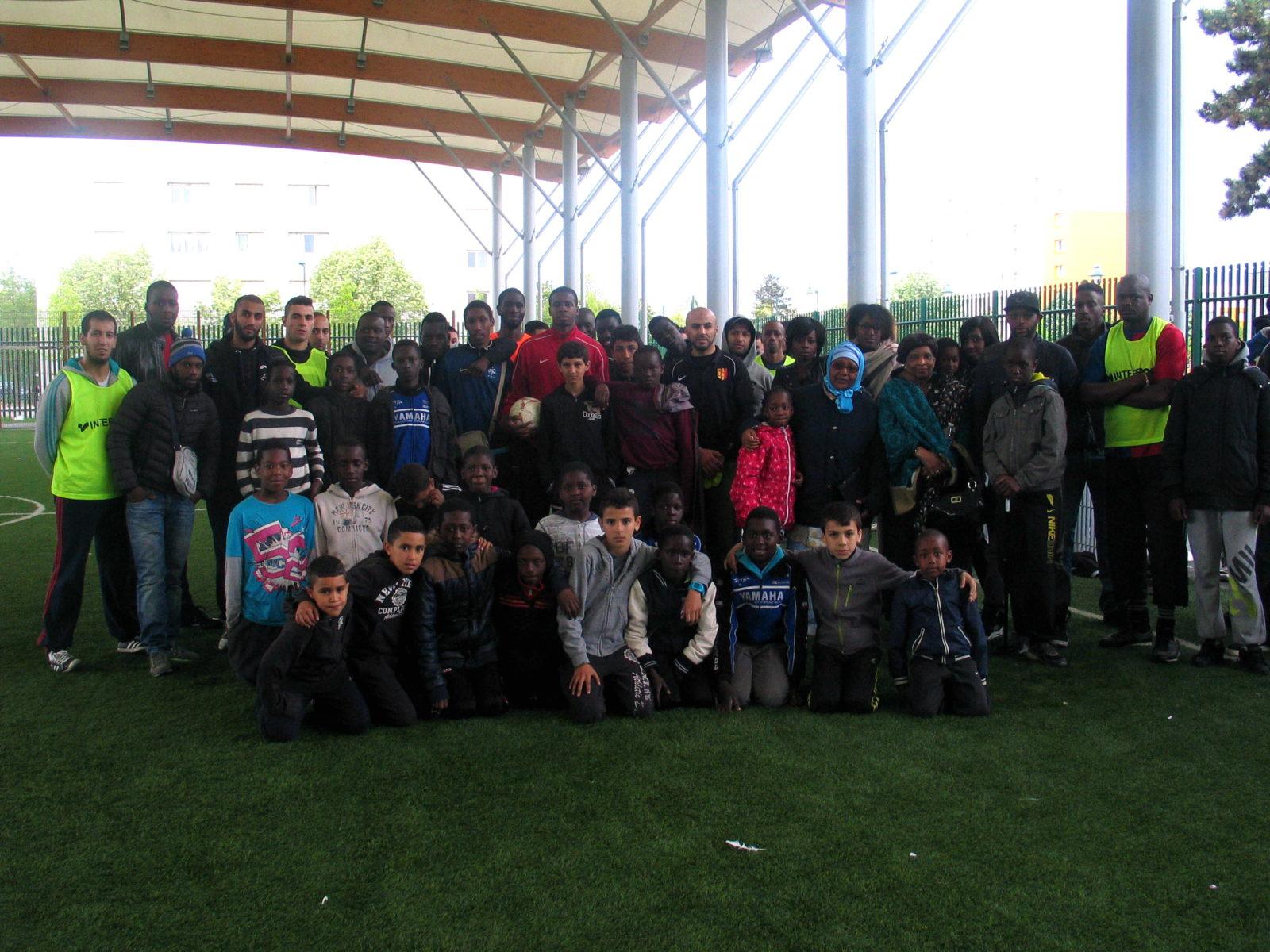 Mantes-la-Jolie (Yvelines), 8 mai 2014. Un tournoi en hommage à Djibril Koulibaly s'est tenu à l'espace sportif Marcel Doret (MA/Ab.N).