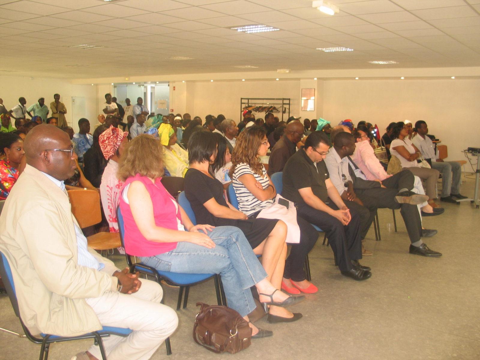 Mantes-la-Jolie (Yvelines), 21.06.2014 - la communauté sénégalaise est venue en nombre  pour la restitution des projets développés au Sénégal (MA/Ab.N)