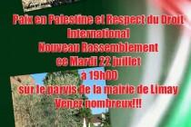Limay : nouvelle manifestation de soutien pour la paix en Palestine
