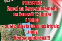 La commune de Limay solidaire avec la Palestine
