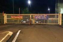 Guerville : blocus à l'usine Valene