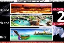 L'INFINITY – TOMBOLA : gagnez 2 billets pour la Thaïlande, un weekend à Marrakech et un weekend à Center Parc
