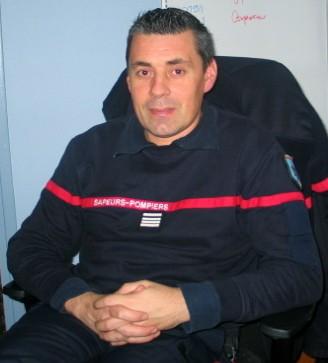Sébastien Petit Jean, commandant du CSP de Magnanville (MA/Ab.N)