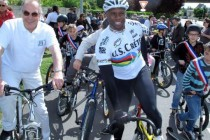 Gargenville : Grégory Baugé inaugure une piste cyclable