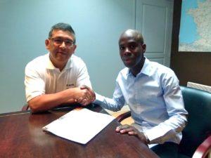 Aboubakry N'diaye et Rodrigo Acosta ont apposé leurs signatures le 13 juillet. (J2R)