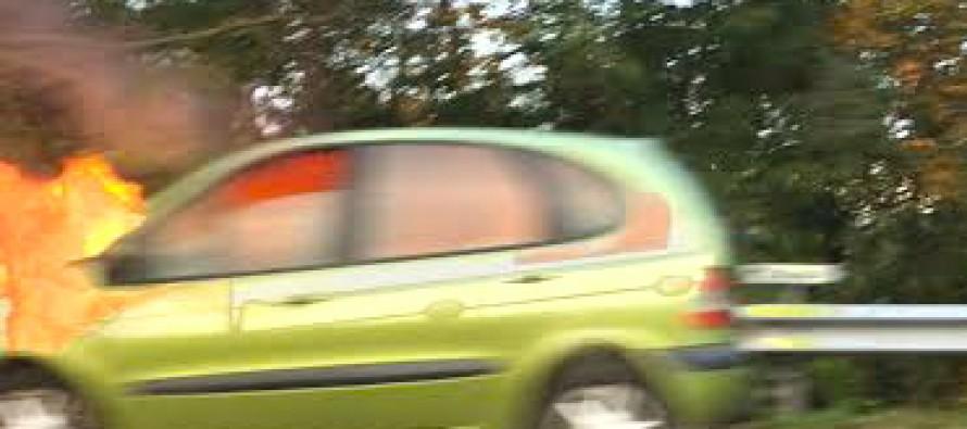 Mantes-la-Ville : un véhicule prend feu sur l'A13
