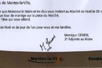 Marché de Noël : l'âne du maire FN de Mantes-la-Ville