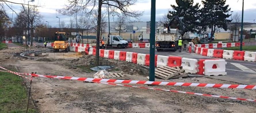 Mantes-la-Jolie : un nouveau rond-point à l'entrée du Val Fourré
