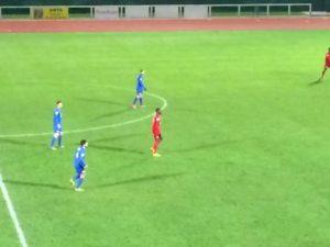Bruno Preira au centre a ouvert le score sur penalty.