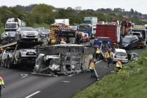 Accident A13 : le conducteur du camion qui a provoqué le carambolage est mort