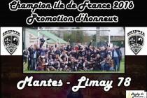 Rugby : l'Entente Mantes-Limay remporte le championnat d'Ile-de-France en Promotion d'Honneur