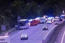 A13 Guerville : un double accident fait 1 blessé grave