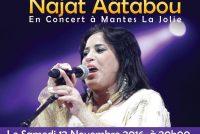 Maison du Maroc Mantes : lionne de l'Atlas, Najat Aâtabou en concert le 12 novembre à l'île l'aumône