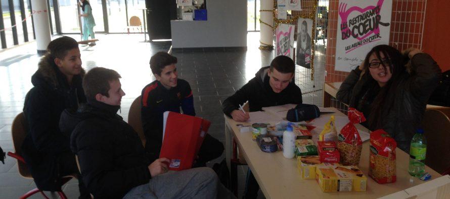 Les lycéens de  Saint-Exupéry se mobilisent au profit des restos du cœur