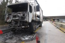 La N13 fermée à son tour après l'incendie d'un camion