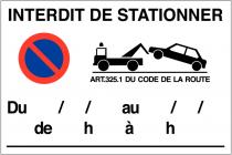 Mairie de Rosny-sur-Seine : stationnement interdit sur le parking les 28 février et 1er mars matins