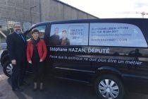 Législatives à Mantes : Stéphane Hazan (SE) fait campagne en camionnette