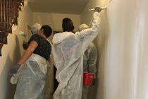 Mantes-la-Jolie : des jeunes du Val Fourré rénovent une cage d'escalier