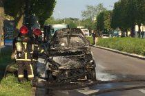 Mantes-la-Jolie : une voiture prend feu sur l'avenue du Général de Gaulle