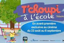 CGR Mantes : découvrez «T'choupi à l'école 2» du 23 août au 6 septembre