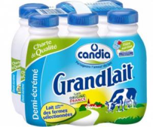 Lait Candia 50 cl : attention, couleur inhabituelle à l'intérieur du col des bouteilles