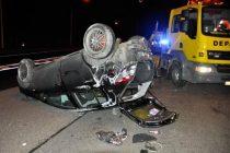 A13 Aubergenville : un automobiliste de 23 ans fait plusieurs tonneaux