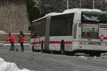Chutes de Neige: les bus sont à l'arrêt à Mantes