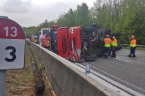 A13 Rosny-sur-Seine : des centaines d'automobilistes bloqués après un accident