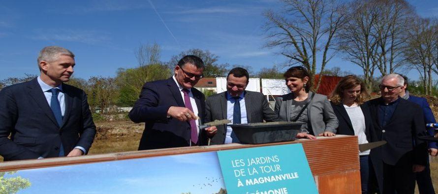 Magnanville – Jardins de la Tour : la première pierre a été posée