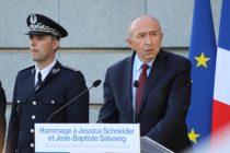 Mantes-la-Jolie : Gérard Collomb rend de nouveau hommage à Jean-Baptiste Salvaing et Jessica Schneider