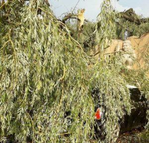 Les orages ont provoqué des dégâts à Limay. Crédit Photo Mantes Actu