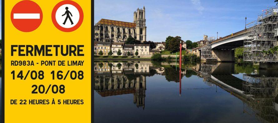 Travaux : le pont Mantes-la-Jolie/Limay fermé la nuit les 14, 16 et 20 août