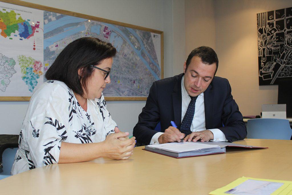 Signature charte relogement