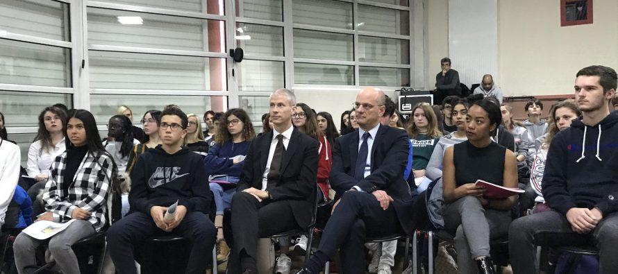Lycée Condorcet Limay : une plateforme de cinéma lancée par les ministres Blanquer et Riester