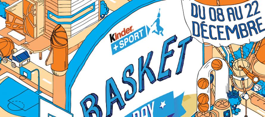 CAMV Basket : participez demain à l'opération « Kinder + Sport Basket Day »