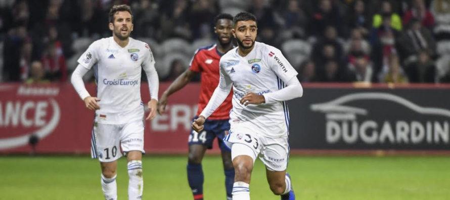 Mantes-la-Jolie : Ismael Aaneba (Strasbourg) en finale de la Coupe de la Ligue de football
