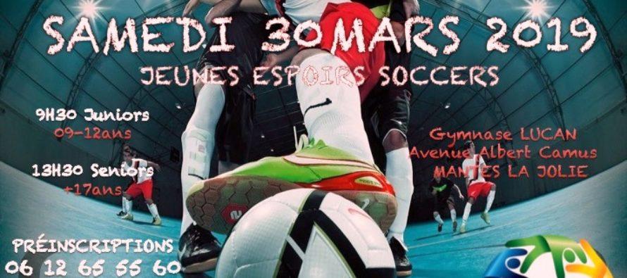 """Mantes-la-Jolie : assistez au tournoi de foot """"Jeunes Espoirs Soccer"""" le 30 mars"""