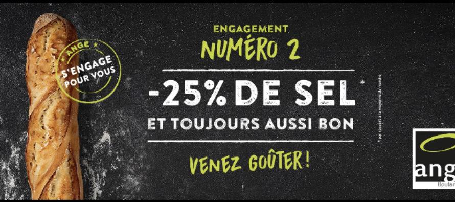 Attention, révolution ! – 25% de sel dans toutes les baguettes Ange !