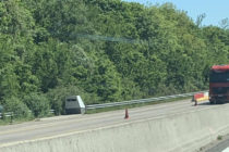 A13 Guerville : un radar autonome installé en direction de Rouen