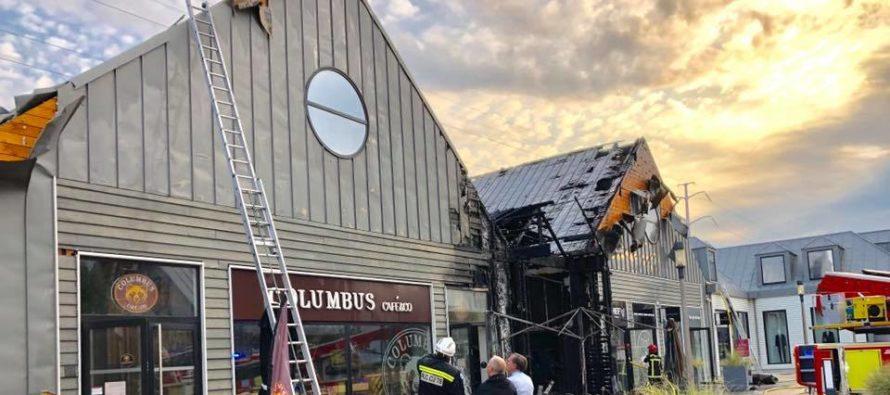 Aubergenville : incendie au centre commercial Marques Avenue