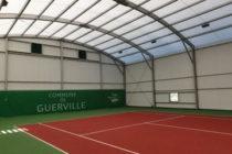 Guerville : un court couvert de tennis inauguré