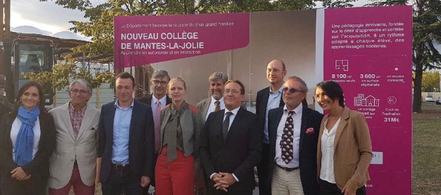 Nouveau collège à Mantes-la-Jolie : le chantier officiellement lancé