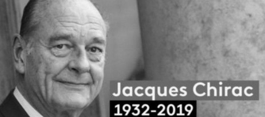 Hommage à Chirac : minute de silence dans les écoles et administrations lundi à 15 heures