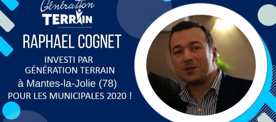 Municipales 2020 : RaphaëlCognet investi par Génération Terrain à Mantes-la-Jolie