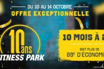 Buchelay – 10 ans Fitness Park : profitez de l'offre à 20€/Mois pendant 10 Mois